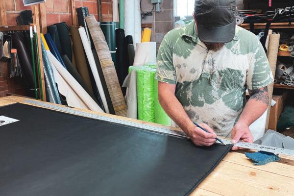 Maker at workshop table