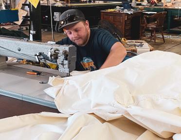 Western Industrial Canvas Staff Sewing