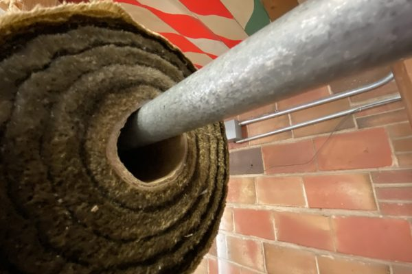 Roll of brown oiled canvas